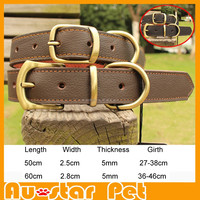 Wholesale Size S High Quality Cow Leather Collares for Medium Large Dogs like Satsuma Husky Dog Collar