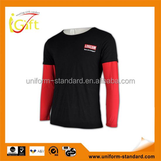 Low MOQ hot sell good quality full sleeve branded t-shirts 2013