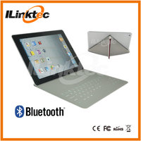 Ultra-thin PU leather keyboard case wireless bluetooth keyboard soft case for ipad