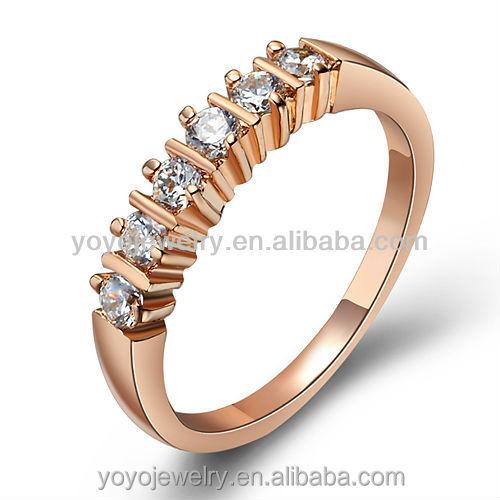 Charm Fashion Rings Low Cost Wholesale White Diamond Wedding Engagement 18k R