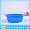Pet accessories silicone collapsible dog water and feed bowl