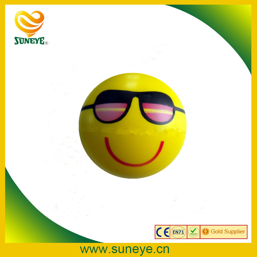 factory wholesale pu foam stress smiley ball