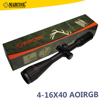 Marcool china airsoft red and green illumination mil dot 4-16x40 riflescope with free anti-dust
