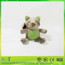 plush pet toy/ plush Coon and Squirrel/pet interactive toys