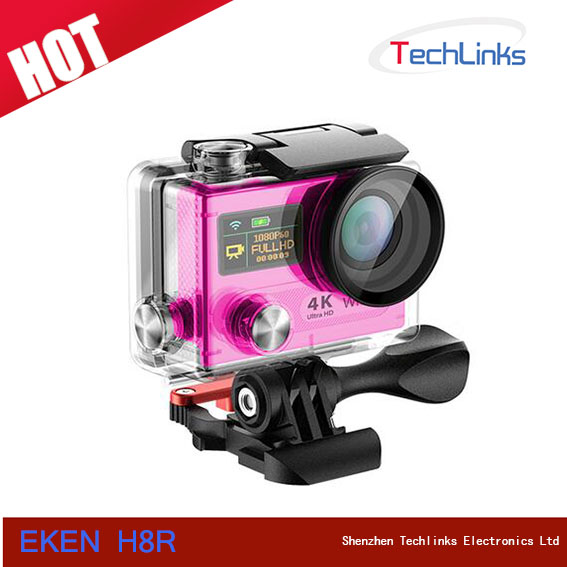 2016 Latest Eken H8R Mini Sport DV HD 1080P Helmet Car DVR Camcorder Wifi Waterproof 2.4G Remote Control 4K Action Camera