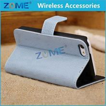 Alibaba Express For iPhone 5C Natural Leather Wallet Case With Stand Function ID Holder Cards Slots