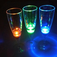 Water activated FDA food grade led champagne glass