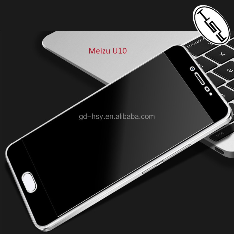 HUYSHE for Meizu <strong>U10</strong> Mobile Phone Screen Protective Film Full Cover Black Tempered Glass Film Protector