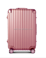 fashion aluminium frame abs +pc luggage suitcase
