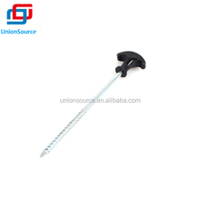 20cm Plastic Tip Steel Tent Peg With Screw