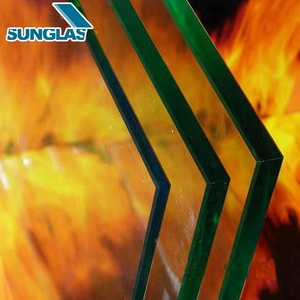 Guangdong Quality Assurance high temperature fire rated hurricane proof glass 6mm Thick Fire Resistant Tempered Glass Price
