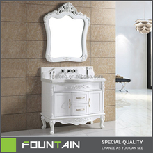 PVC Hangzhou High Gloss White Standing New Design Furniture New Washroom Cabinets Furniture