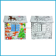 Comfortable home DIY toy Paperboard doll House assembly house