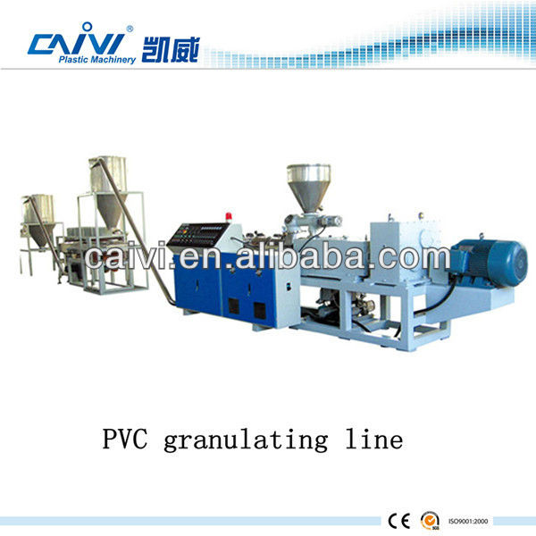 Film agglomeration Plastic pelletizing line/CE approved High quality granulating line in Suzhou CAIVI plastic machinery company