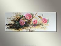 Hall Decoration handpainted flowers modern painting