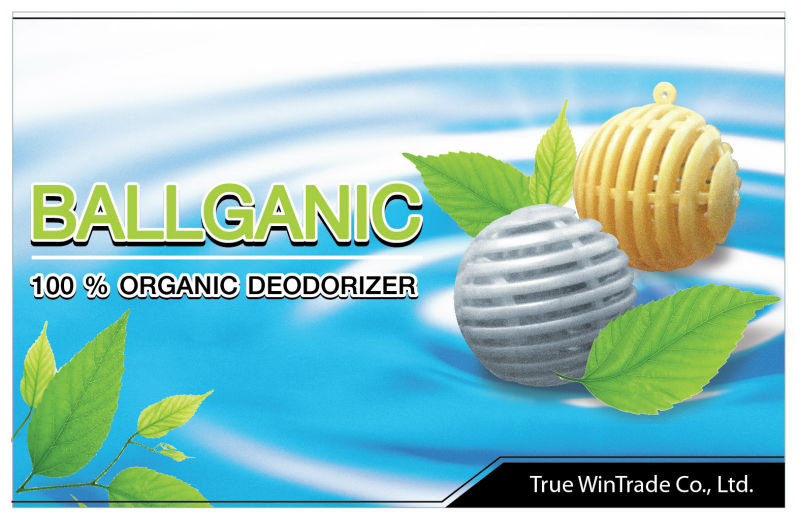 BALLGANIC (100% Organic and fragrance free deodorizer) - Wardrobe
