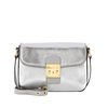 CL11-074 Fashion rectangle metallic silver PU cross body bag