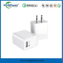 6 port usb charger, travel home wall adapter 60W type-C charging hub with QC3.0 wall charger for mobile phones