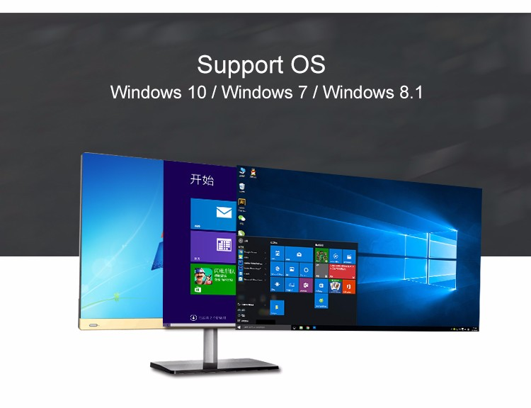 2016 newest 23.8 inch Windows 10 Intel i5 All in one PC 4G 64G 500G HDD desktop computer laptop computer