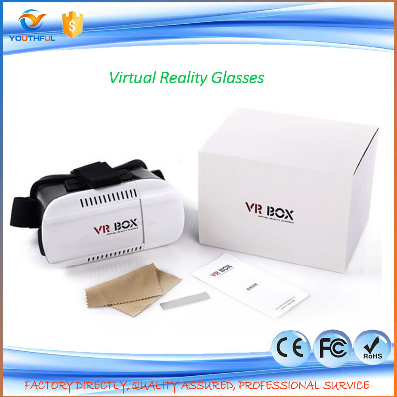 Hot Selling!!! Virtual Reality Glasses Case Plastic Google Cardboard 3D Glasses VR BOX 2.0