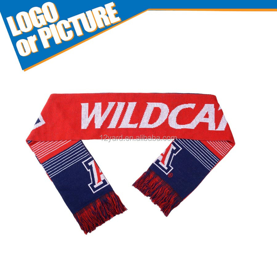 Wholesale Chic Arizona rugby fans stripe Men's Knit Scarves
