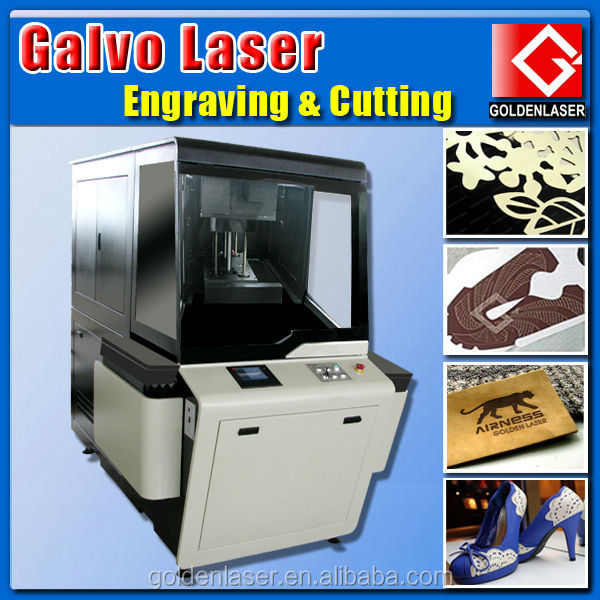 High Speed Hollowing Engraving Cutting Galvo Laser for Leather