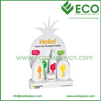Pineapple Shape White Shampoo Counter Display For Skin Caring