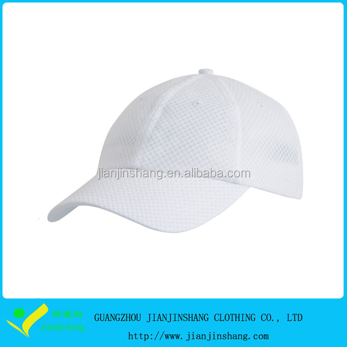Dri Fit Mesh Moisture Wikcing Golf Sports Hat In White Color