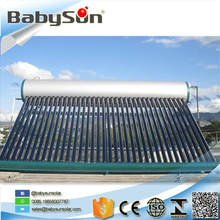 2017 low pressure sunray solar water heater cost export to Indonesia India