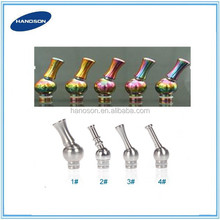 Factory Manufacturer 510 rotatable metal drip tips aluminum swivel drip tips/animal drip tips