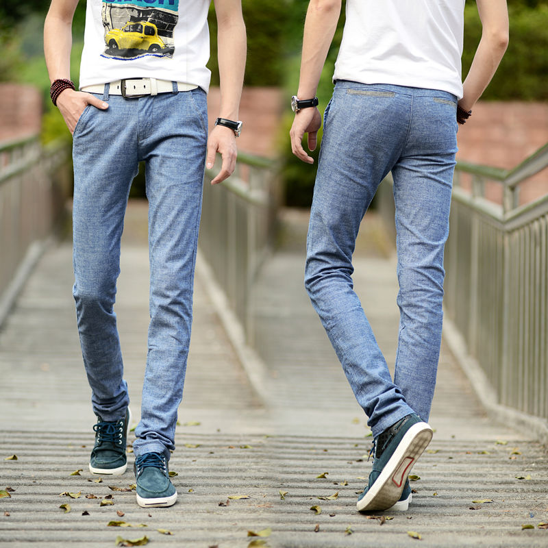 Wholesale 2014 summer new Korean men's casual pants Slim young cotton casual pants men 664
