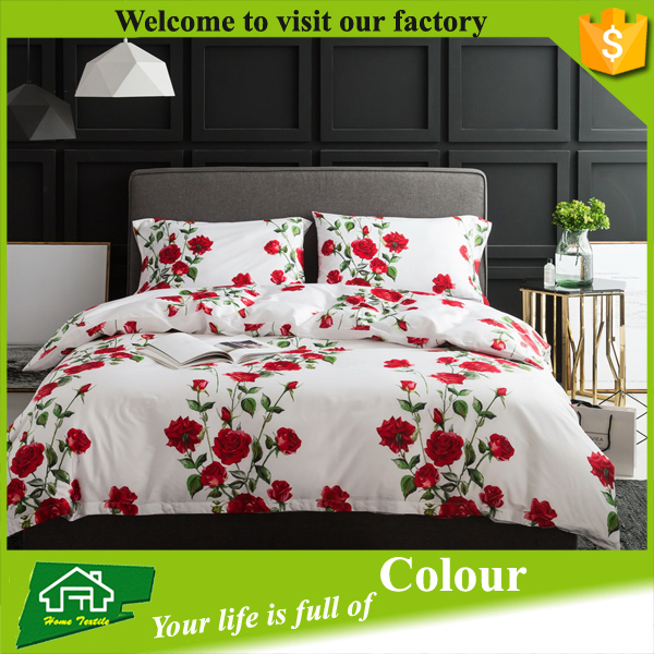 Home and garden polyester microfiber fabric bedding set