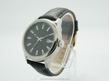 Mens wrist watch mens leather band quartz watches bezel japan movt