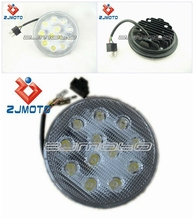 Motorcycle Universal Street Fighter Round LED Seedpod of the lotus Headlight Classic Cruiser HOT SALE!!