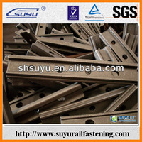 Rail angle bar for joining the abutting rails