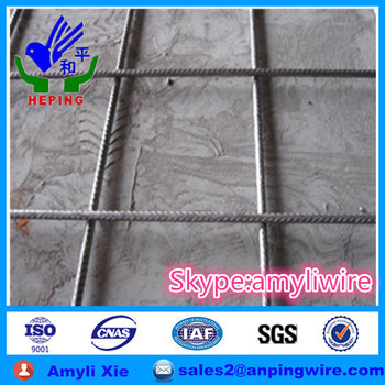 Black steel Concrete Rebar Welded Mesh BRC