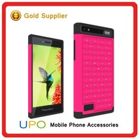 [UPO] Bling Diamond PC Silicone Mobile Phone Cases cover For blackberry z20