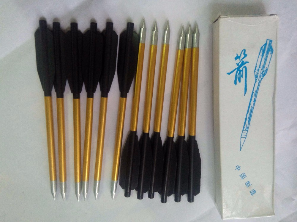 Two feather hunting aluminum arrows LJ161 use for pistol crossbow