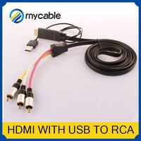 HDMI to 5 RCA RGB Component Cable hdmi to rca converter box HDTV Cord Audio AV Video Converter