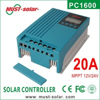 High Efficiency 98% MPPT Type 12 volt 20 amp Solar Charge Controller