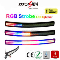 50'' led 12V strobe light bar! Curved 240W 288w 300W offroad led bar, remote control RGB flashing bar light for 4wd,car, jeep