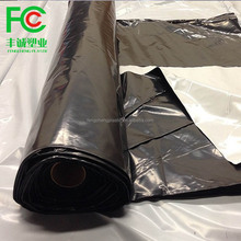 mulch factory supply high quality ldpe material 20 micron white black plastic mulch film
