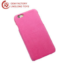 Tpu Plush Back Cover For Iphone Custom Logo Stuffed Cellphone Case Pink Plush Mobile Phone Shell For Iphone 7 Plus