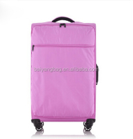 2016 custom polyester travel trolley luggage bag