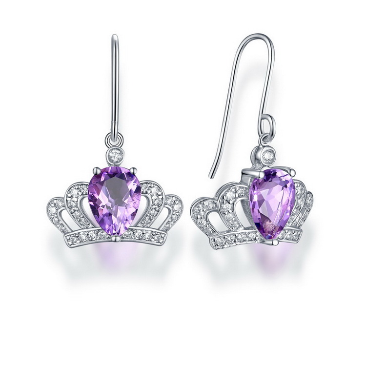 Crown Princess Accessories 925 Sterling Silver Jewelry Earrings