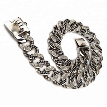 stainless steel welded cast bling pet chain colorfu diamond dog collar