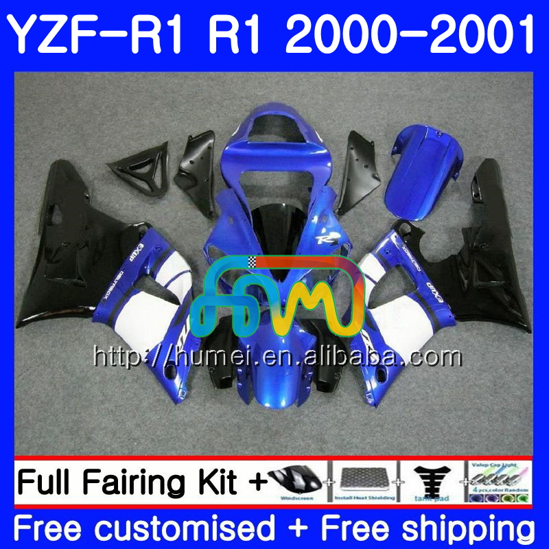 Body For YAMAHA YZF R 1 YZF 1000 blue black YZF-<strong>R1</strong> 00-01 Bodywork 98HM25 YZF1000 YZF-1000 YZF <strong>R1</strong> 00 01 YZFR1 2000 <strong>2001</strong> Fairing