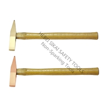 Hebei SIKAI high quality anti sparking Safety Tools aluminum bronze Scaling Hammer with wooden handle