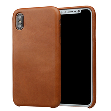 Super slim genuine leather fully cover mobile phone case for iPhone X