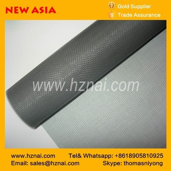 Vinyl coated fiberglass yarn insect screen 110g black color